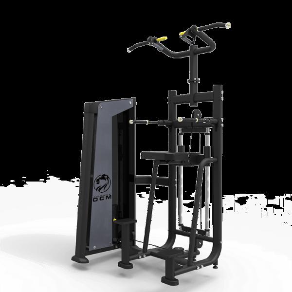 Vektassistert hang-ups/dips maskin - OCM Performance Line Dual Dip + Chin Assisted